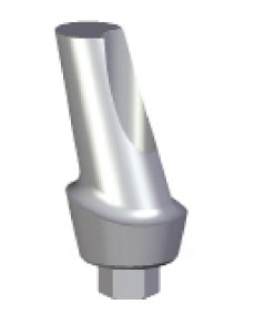 15 Degree Angled Abutment - 2mm Collar - 4.5 platform