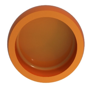 Orange insert for Locator - 2 lbs