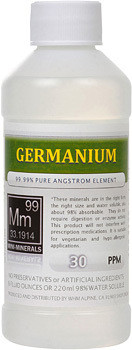 Germanium comes in 8, 16 and 128 ounce bottles.