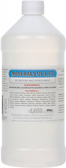 Minerals of Life comes in 16, 32 or 64 ounce bottles.