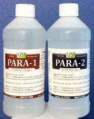Para 1 & 2 Combo Kit includes one 16 ounce Para-1 and one 16 ounce Para-2 bottle.