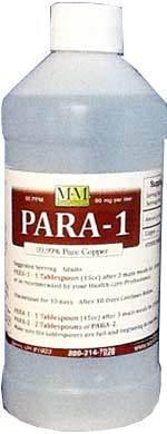 Para-1 Copper is a 16 ounce bottle.