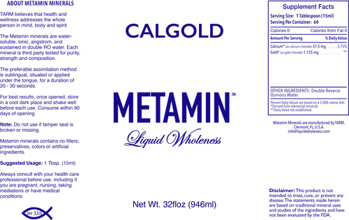 CALGOLD comes in 16, 32 or 128 ounce sizes, just right for your personal needs.