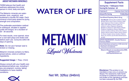 Water of Life comes in 16, 32 or 128 ounce sizes, just right for your personal needs. .