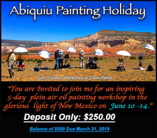 Abiquiu, New Mexico Painting Holiday with John Hulsey DEPOSIT ONLY