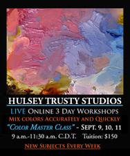 September 9, 10 & 11, 9-11:30 AM CDT - Live Oil Painting Workshop: Color Mixing Master Class