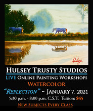 January 7, 5:30 PM - 8:00 PM CST - Watercolor Evening with John Hulsey - Reflection