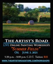 Jun 3,  2021, 5:30 PM - 8:00 PM CDT - Thursday Evening Oil Painting with John Hulsey - Summer Fields