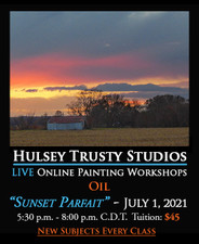 July 1, 2021, 5:30 PM - 8:00 PM CDT - Thursday Evening Oil Painting with John Hulsey - Sunset Parfait