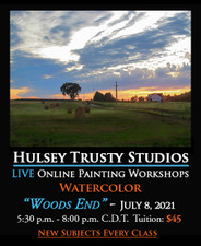 July 8, 2021, 5:30 PM - 8:00 PM CDT - Thursday Evening Watercolor Painting with John Hulsey - Woods' End