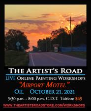 October 21, 2021, 5:30 PM - 8:00 PM CDT - Thursday Evening Oil Painting with John Hulsey - Airport Motel