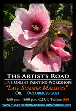 October 28, 2021, 5:30 PM - 8:00 PM CDT - Thursday Evening Oil Painting with Ann Trusty - Late Summer Mallows