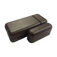IQ Mini DW S-Line (Brown) - Encrypted.  Small, low-profile door/window sensor.  Rare-earth magnet for wide gap.