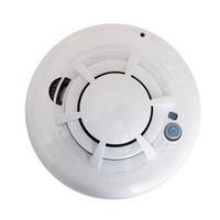 IQ Smoke - Photo-electric wireless smoke detector with fixed heat detection