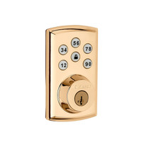 SmartCode 888 Polished Brass Z-Wave Lock