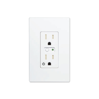 F/G WALL SINGLE OUTLET, 15A, NA, Z WAVE