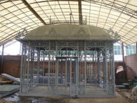 LARGE CAST IRON GAZEBO OR CONSERVATORY...AVAILABLE WITH OR WITHOUT GLASS ENCLOSURE 15 1/2 FEET WIDE