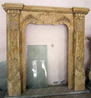 "Elegant French Style Marble Door Surround, 103"" Tall"