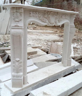 HAND CARVED FIREPLACE MANTEL  Dimensions:  Whole size is: L:65 x H:49.2 x W:11.8, Opening 42 wide x 36 tall.
