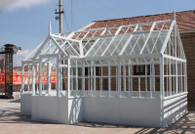 CAST IRON GARDEN CONSERVATORY OR GREENHOUSE