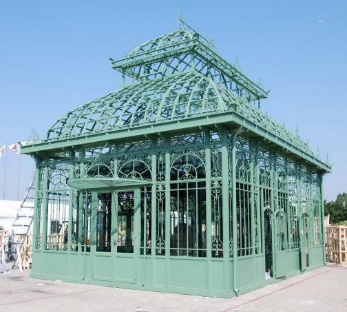 Large Iron Greenhouse Garden Conservatory Victorian Style