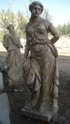 Hand Carved Marble Statues of  Four Seasons, in Tuscan or Old World Finish