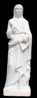 LARGE CHURCH STATUE; CLASSIC RENDERING OF ST. JOHN THE EVANGELIST, W/ QUILL & SCROLL, RELIGIOUS