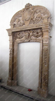 Newly Designed Marble Door Surround from Solid Hand Carved Marble
