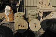 LOT OF SIX MILL STONES GREAT FOR ARCHITECTURAL OUTDOOR DECORATION