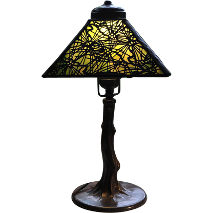 HANDEL PINE NEEDLE OVERLAY BOUDOIR TABLE LAMP LARGE SHADE