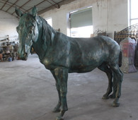 "LARGE IRON HORSE Dimensions: 82.68""H x 90.55""L x 26.77""W."