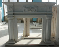 Hand carved Marble French fireplace mantel