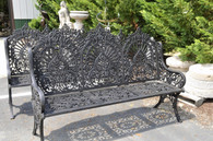 Exceptional Victorian Inspired Cast Iron Garden Bench Antique Design