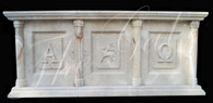 Hand Carved Marble Church Altar with carved Panels-Religious