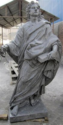 """LIFE SIZE CLASSIC GREEK OR ROMAN GARDEN STATUE FROM SOLID MARBLE, 73"""" TALL"""