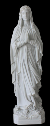 Hand Carved marble statue of Our Lady of Lourdes