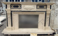 CONTEMPORARY MULTI TONE MARBLE FIREPLACE MANTEL