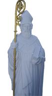 Beautifully Carved Marble Religious Statue of St. Patrick