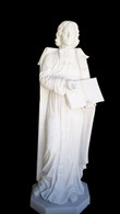"Hand Carved Marble 60"" Religious Statue of St. John de Salle"