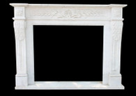 Hand Carved Marble Fireplace Mantel Italian Roman Design #1561