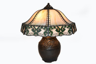 Handel 24 Inch Ginkgo Overlay Lamp Floral Poppy Base