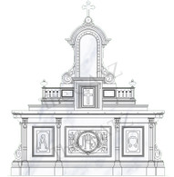 Custom Designed Marble Church Altar