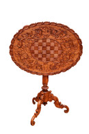 Lovely Antique Black Forest Occasional Table, Tilt Top, 1900's