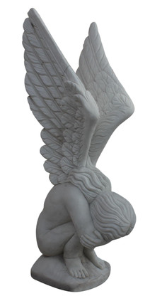 Hand Carved Marble Weeping Angel Monument