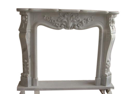 Hand Carved French Style Marble Fireplace Mantel #3968