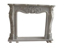 Hand Carved French Style Marble Fireplace Mantel #9845