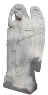 Attractive Hand Carved Marble Angle Statue, Monument