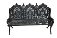 SOLD Large and Stately Victorian Inspired Cast Iron Garden Bench