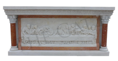 Marble Last Supper Front or Back Altar, Church, Religious Furnishings