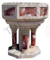 Roman Style Marble Baptismal, Church/Religious Furnishings